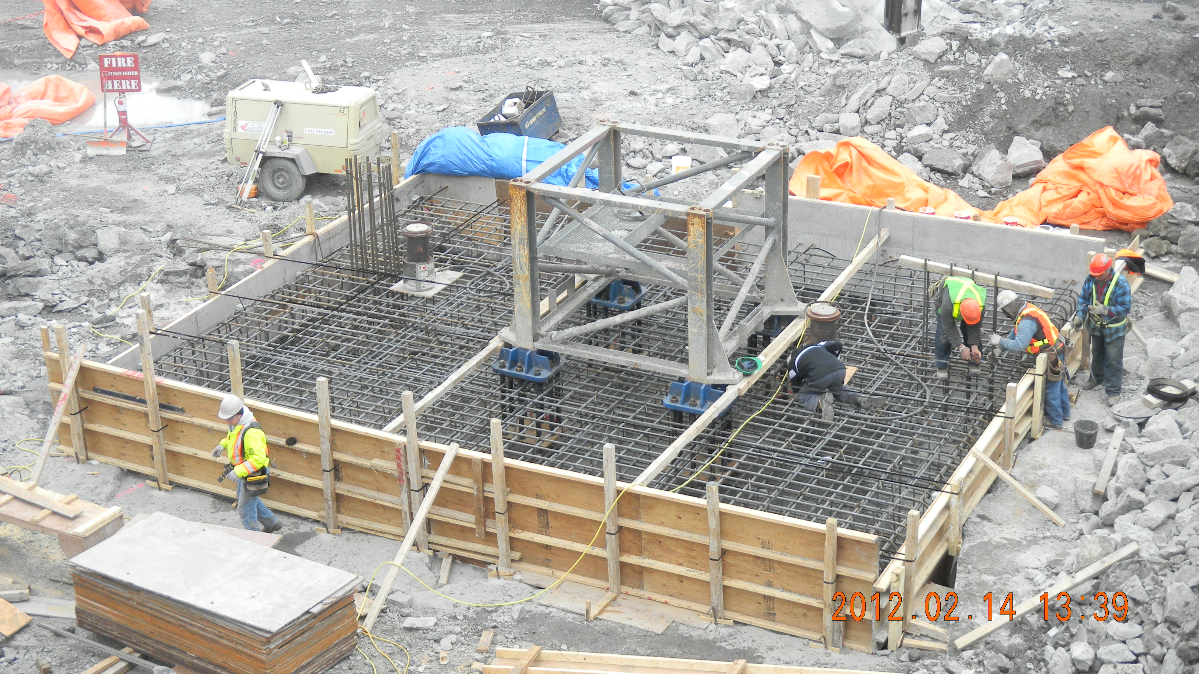 Tower crane base for The crain